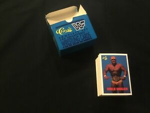 1990 CLASSIC WWF Wrestling Cards Series 1 NM-Mint Awesome Complete Set !