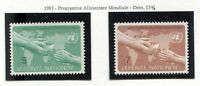 19328) UNITED NATIONS (Vienna) 1983 MNH** World Food