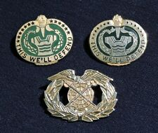 Lot of (3), Us Army Quartermaster Badge & Training Drill Instructor Dui's