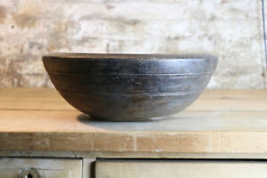 19th Century Welsh sycamore Dairy Bowl Treen Antique