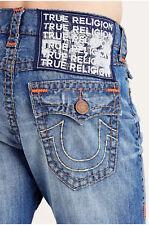 True Religion Men's Rocco Skinny Super T w/ Flaps in Blue Metal