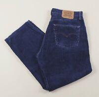 Vintage LEVI'S 451 Blue Straight Corduroy Men's Jeans 36W 27L 36/27 /J37024