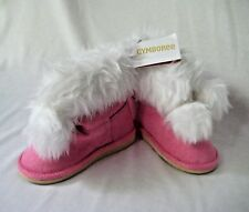 Gymboree Cozy Cutie Boots Toddler Girls Sz 7 Pink w/ White Faux Fur Winter NEW