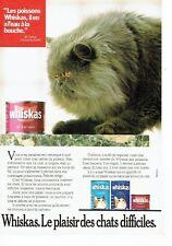 Publicité Advertising 057  1987   Whiskas  patée pour chat au saumon