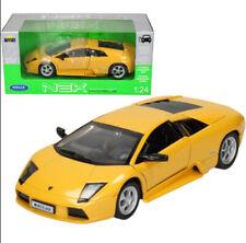 1:24 Scale Welly Yellow Lamborghini Murcielago Detailed Diecast Model Car BNIB