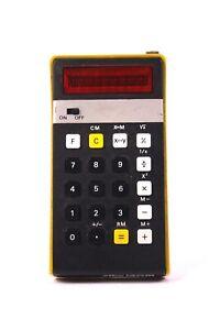 elka 130M Bulgarischer Taschenrechner Elektronik Rechner 70er Jahre Gelb Schwarz