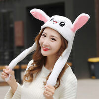 2019 Adult Child Winter Hat Cute Moving Airbag Dancing Rabbit Ears Hat LED Light