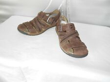 Men's Merrell Expresso Brown Leather Casual Sandals Size 9 D