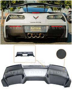 For 14-19 Corvette C7 GM Factory CARBON FIBER Rear Lower Bumper Diffuser