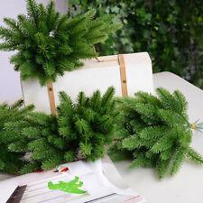 10pcs Artificial Flowers Fake Green Plants Pine Tree Branch Christmas Decor Nice