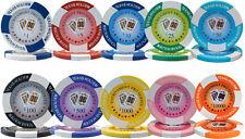 New Bulk Lot of 1000 Tournament Pro 11.5g Clay Casino Poker Chips - Pick Chips!