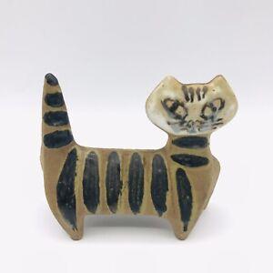 Vtg Lisa Larson MCM Pottery Standing Cat Figurine Lilla Zoo Gustavsberg Sweden