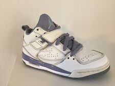 8b93e85875e5b Nike Air Jordan Flight Size 4Y Girls Youth Basketball White Purple  364798-145