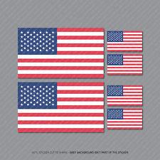 6 X American Flag Sticker Die Cut Decal America USA - SKU2621