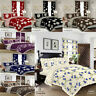 Duvet Cover with Pillow Case Quilt Cover Printed Bedding Set Single Double King