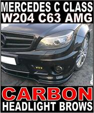 Mercedes C Class C63 W204 Carbon Headlight Brows Set Eyebrow