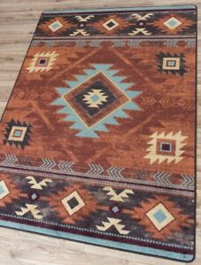 """Whiskey River Rust Southwest Ranch Country Farmhouse Area Rug 7'8"""" x 10'11"""""""