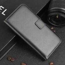 Samsung Galaxy A5 (2017) Handy Tasche Echt Leder Book Klapp Etui Cover Schwarz