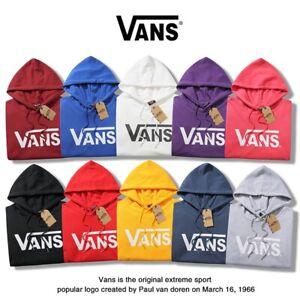 Unisex Classic VAN s Letter Print Loose Cotton Hoodie Sweatershirt Pullover Coat
