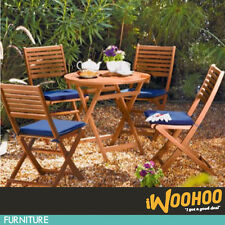 Newbury 4 Seater Timber Outdoor Setting FSC Patio Table Chair Dining Furniture