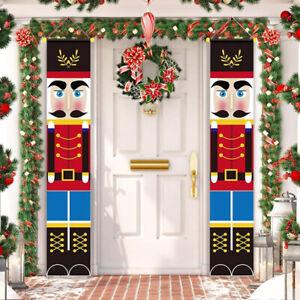 Nutcracker Christmas Decoration Soldier Model Nutcrackers Banner DIY Home Decors