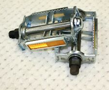 Vintage Bicycle Bike NOS Wellgo Pedals 9/16 Rat Trap Steel Chrome Old School New