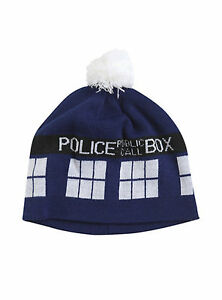 NEW Dr Doctor Who TARDIS Hat Beanie - Official BBC Licensed by Elope