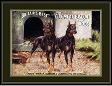 English Print Doberman Pinscher Dog Dogs Puppy Biscuit Advertisement Art Poster