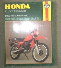 Buy honda motorcycle service repair manuals 1984 ebay haynes workshop manual for honda xl xr xl250 xr250 xl500 xr500 1978 to 1984 fandeluxe Images