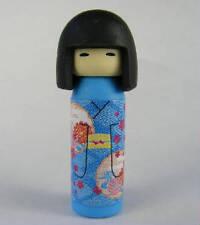 Iwako: Japanese Kokeshi Doll Blue Pattern Kimono Eraser