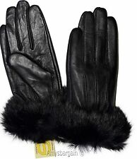 Leather Gloves. Real Fox fur Size (XL) Women's Gloves. Ladies' winter gloves