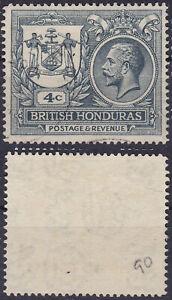 British Honduras 1922 4 Cents Sc-90 King George V Colony Seal MLH