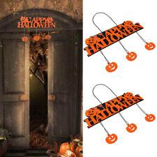 Halloween Pumpkin Banner Pendant Door Decor Hanging Cosplay Happy Party Toy Gift
