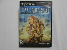 Final Fantasy XII (Sony PlayStation 2, 2006) Black Label Complete FF12 PS2