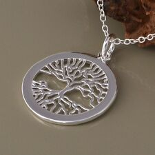 Top Qualität Anhänger Lebensbaum  Halskette Silber 925, Baum des Lebens