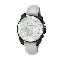 Chronotech Orologio Watch Man Uhr Atlas RW0152 Pelle Grigio Bianco Data Nero New