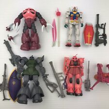 "Bandai Mobile Suit Gundam 4"" Figure Lot - RX78 Gelgoog Char Z'Gok + Accessories"