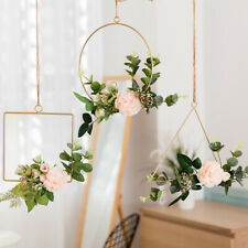 Iron Wall Decoration Home Decor Artificial Flower Planters Hanging Ornaments