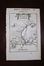 ✒ 1683 MANESSON MALLET Nouvelle Zemble nord RUSSIE Moscovie