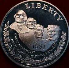 Uncirculated 1991-S San Francisco Mint Mount Rushmore Comm Silver Dollar