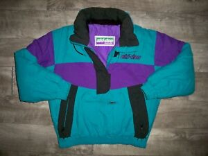Vintage 90s Ski-Doo Snowmobile Pullover Puffer Puffy Men's Jacket Size Small