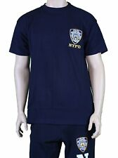 NYPD Short Sleeve T-Shirt with Embroidered Logo Navy
