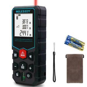 Handheld Digital Laser Point Distance Meter Tape Range Finder Measure 60m 197ft