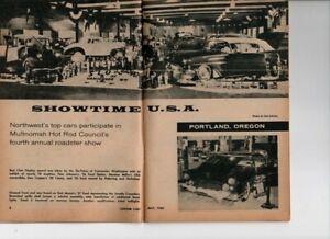 Vtg Custom Cars Magazine May 1960 Hot Rod Drag Race Sportcars Portland OR