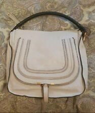 Chloe Marcie Large Hobo Bag White Leather Rare Vintage