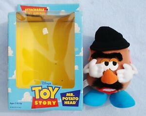 "Disney Hasbro TOY STORY MR. POTATO HEAD 9"" Plush Toy Attachable Play Pieces 1996"