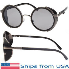 Vintage Retro Mirror Round Sunglasses Goggles Steampunk Punk Sun Glasses Classic
