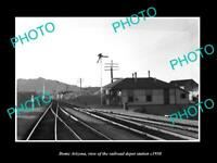 OLD 8x6 HISTORIC PHOTO OF DOME ARIZONA THE RAILROAD DEPOT STATION c1940