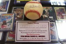 STAN MUSIAL SIGNED OFFICIAL NATIONAL LEAGUE BASEBALL ST LOUIS CARDINALS
