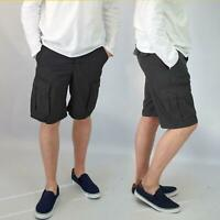 H&M Mens Cotton Long Cargo Shorts Black Navy Grey
